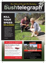 4th April 2013 - The Bush Telegraph Weekly