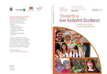 Towards a low footprint Scotland - WWF UK
