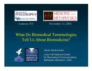 What Do Biomedical Terminologies Tell Us About Biomedicine?