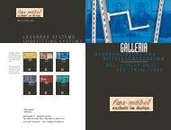 LADENBAU SYSTEME GALLERIA - Fws-moebel.de