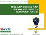 Slides presentazione risultati finali Linee Guida illuminazione pubblica