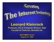 slides - Leonard Kleinrock - UCLA