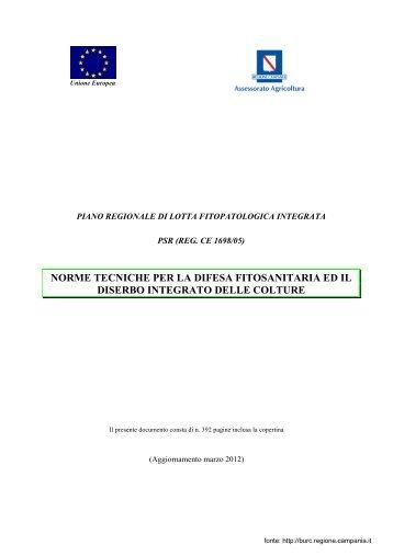 Norme tecniche per la difesa fitosanitaria ed il diserbo integrato