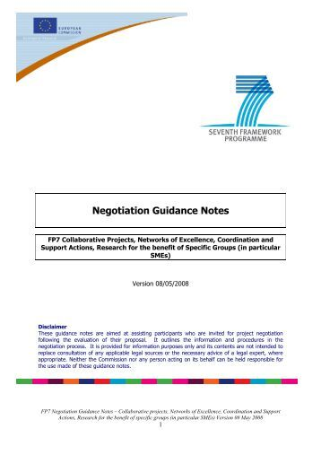 Negotiation Guidance Notes