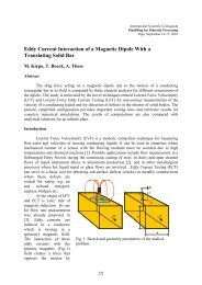 Eddy Current Interaction of a Magnetic Dipole with a Translating ...