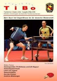 Ausgabe Mai 2008 - Tischtennis Bezirk Heidelberg