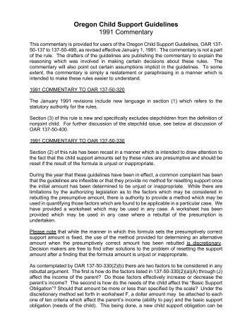 137-050-0725 Basic Support Obligation - Oregon Child Support ...