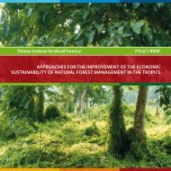 approaches for the improvement of the economic sustainability of ...