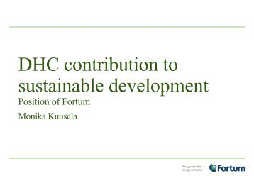 DHC contribution to sustainable development