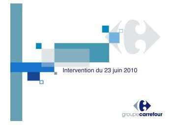 Intervention du 23 juin 2010 - Evenium