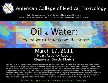 Oil & Water Brochure V11 - American College of Medical Toxicology