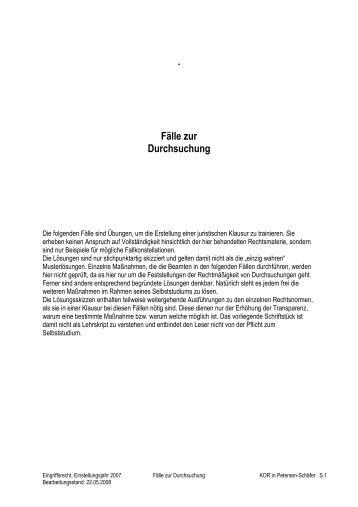 Fälle zur Durchsuchung - Polizei Brandenburg