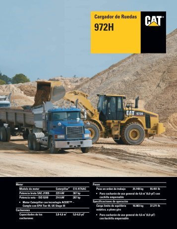Specalog for Cargador de Ruedas 972H, ASHQ5658 - Kelly Tractor