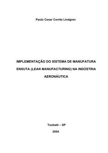 (LEAN MANUFACTURING) NA INDÚSTRIA ... - Ppga.com.br