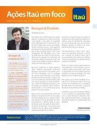 Ações Itaú em foco - Relações com Investidores - Banco Itaú