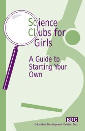 Science Clubs for Girls - Education Development Center, Inc.