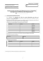 Niederschrift über die Sitzung des Wahlausschusses zur ... - Wahlen