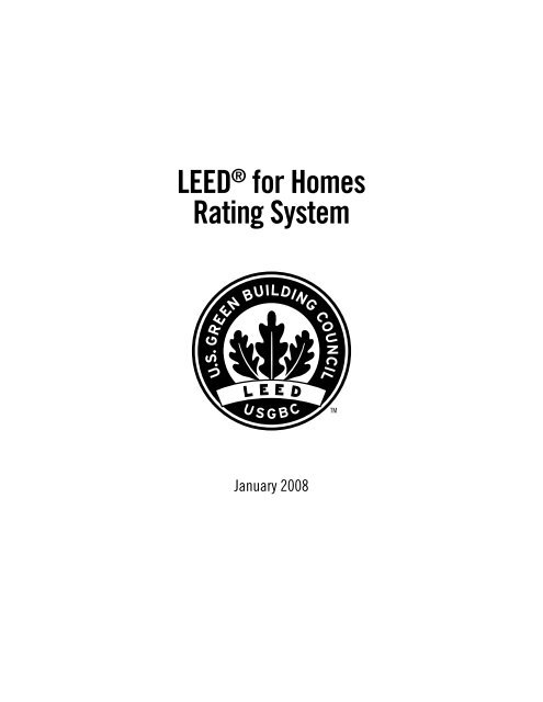 Leed For Homes Rating System Updated April 2017 Us Green