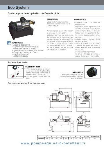 Système récupération eau de pluie GUINARD ... - MIDI Bobinage