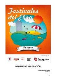 Informe de Valoración de Festivales del Ebro 2012Documento en ...
