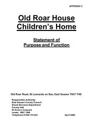 Old Roar House Children's Home - East Sussex County Council
