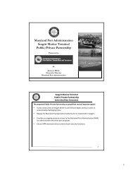 Maryland Port Administration Seagirt Marine Terminal ... - NASACT