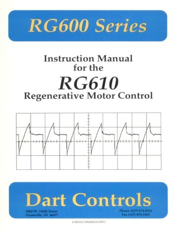 RG610 Manual - Dart Controls
