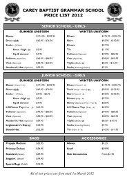 Carey 2012 Price List.pub - Bob Stewart