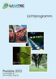 Lichtprogramm 2013 - LIWATEC AG