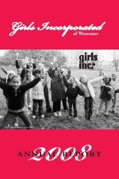 Annual Report 2008 - Girls Inc. of Worcester