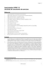 Accords de concession de services - Normes d'information ...