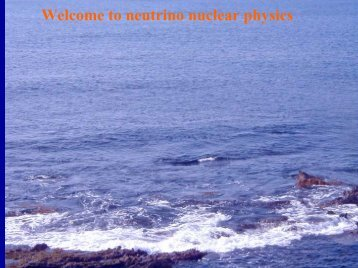 Welcome to neutrino nuclear physics