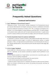 Frequently Asked Questions - Pubblica Amministrazione di Qualità