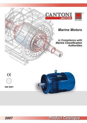 Product Catalogue Marine Motors 2007 - Cantoni Group