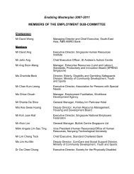 Employment Sub-Committee - Ministry of Social and Family ...