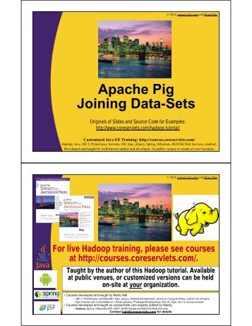 Apache Pig Joining Data-Sets - Custom Training Courses ...