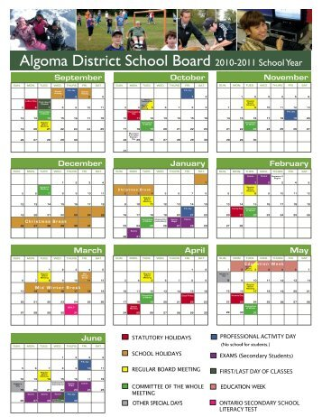 Algoma District School Board 2010-2011 School Year