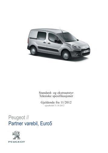 Peugeot // Partner varebil, Euro5