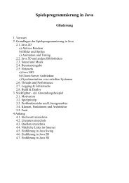 Spieleprogrammierung in Java Gliederung - Petra Stumpf