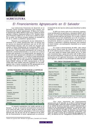 El Financiamiento Agropecuario en El Salvador - Alide