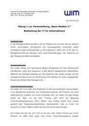 Ü01 - Institut für Wirtschaftsinformatik und neue Medien