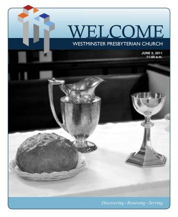 June 5, 2011 - Westminster Presbyterian Church