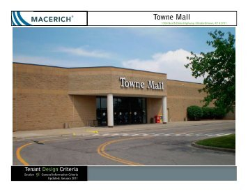 Towne Mall General Information Criteria - Macerich