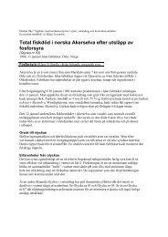 Total fiskdöd i norska Akerselva efter utsläpp av fosforsyra