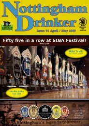 Fifty five in a row at SIBA Festival! - Nottingham CAMRA