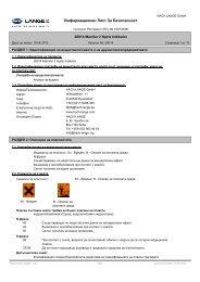 Информационен Лист За Безопасност - HACH LANGE