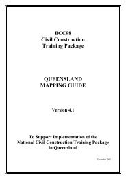 BCC98 Civil Construction Mapping guide - Training Queensland ...