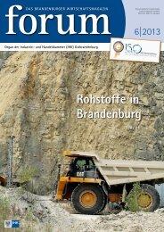 forum 06|2013 - Wirtschaftsmagazin Ostbrandenburg