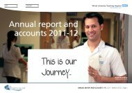 Annual report and accounts 2011-12 - Wirral University Teaching ...