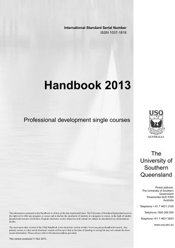 Professional development and single courses - University of ...